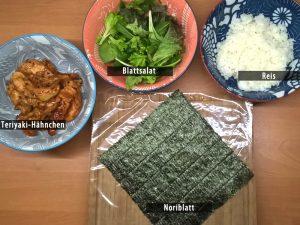 Onigirazu Chicken Terayaki Zutaten