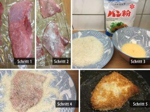 Tonkatsu Zubereitungsschritte